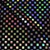 57.03403.010 Velours geplakte Hologram Pailletten Vierkant zwart