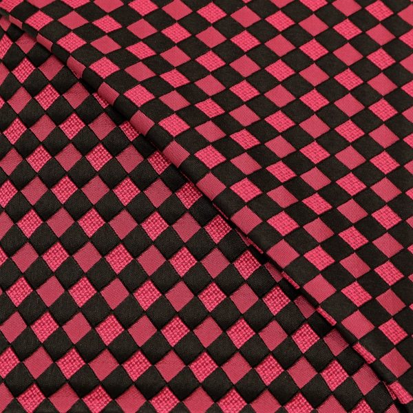 57.08615.063 Jacquard Blok Diagonaal cyclaam